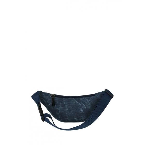 Сумка - Бананка на пояс Exodus Leather Canvas Синий P2110EX065