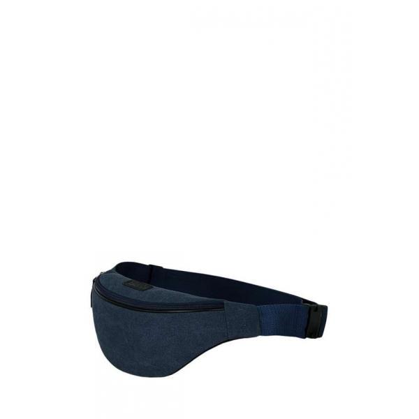 Сумка - Бананка на пояс Exodus Leather Canvas Синий P2110EX031
